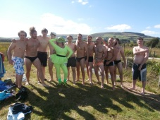 Bog Frog with Stag party thisweekend - i really didn't think I'd be the only one wearing fancy dress (or clothes for that matter!)