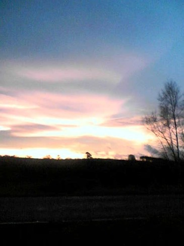 sunset on the way to Cerdyn Villa
