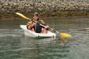 Tony Bain of Green Dragon Activities , Bathtubbing in Cardiff Bay