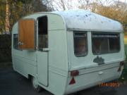 """I have great plans for the exterior of this Elddis it ill become my """"Pink Butterfly"""" mobile gallery"""