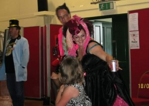 me as Lady Lily Pink -Loony Party Music Fest Llanwrtyd Wells