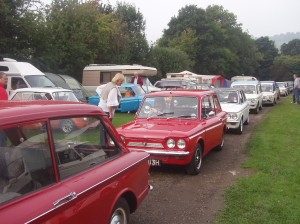 Impers heading off for the 100  'welsh mile' road trip