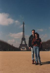 John and I in Paris - April 1995 after I'd decided not to leave!