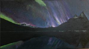 """Dance of the Spirit"" - aurora over th Fjord"