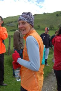 Jen Walsby taking part in Man v Horse Marathon held annually in Llanwrtyd Wells