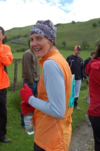 Jen Walsby taking part in Man v Horse Marathon held annually in Llanwrtyd Wells