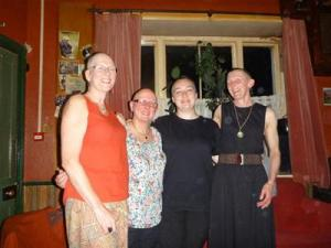 June, Tina,Aurelia, Jen - amazing local ladies helping The Little Princess Trust