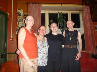 June, Tina,Aurelia, Jen - amazing local ladies helping The Little Princess Trust