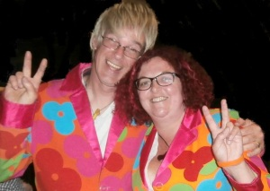 Me and John - pink and peaceful and Imp50 last year