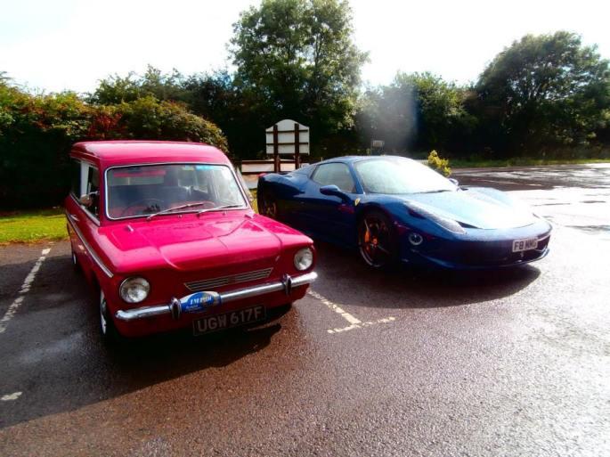 A thoroughbred rear engined car ...and a Ferrari !