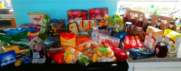 My Aldi shop - 94 itemd, £86.45.... please ignore all the chocolate and concentrate on the fresh fruit