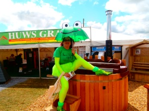 Bog Snorkelling mascot #BogFrog