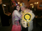 lady lily the pink and Howlin Lord Hope of the Monster Raving Loony Party