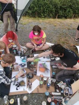 fusion art workshop with Jay Moore