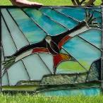 red kite over myddfai - commision piece - internal door