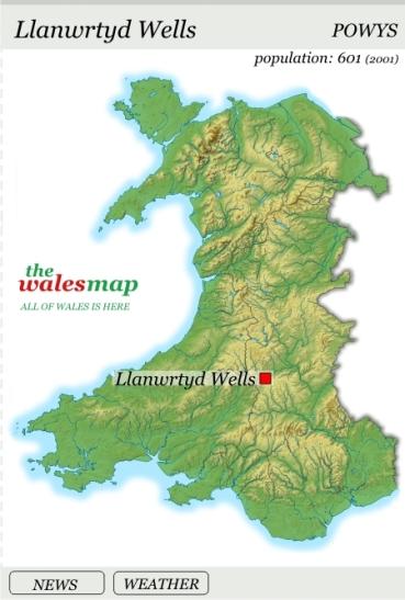 llanwrtyd map