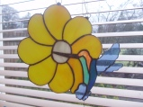 humming bird on flower